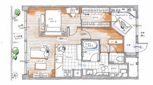 M邸平面図